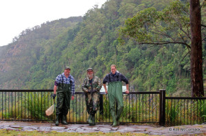 Craig Burnes, Rob McCormack and Chris Van der Wyk in Lamington National Park